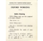 Oxford Working Passing Card